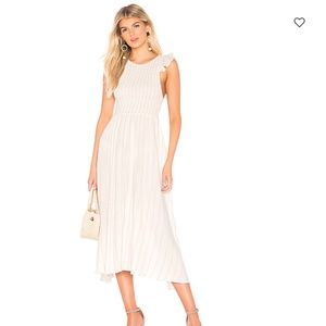 Free People Chambray Butterflies Midi Dress Size S